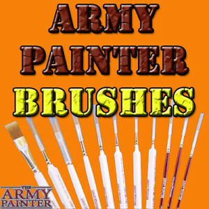 Army Painter Hobby & Wargamer Individual Miniatures Brushes Free Shipping $35+