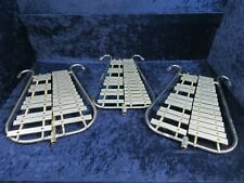Lot of 3 Vintage Xylophone 25 Bar Bell Lyres Ser#isi7459-25 Jenco A-440 etc