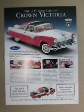 Franklin Mint Brochure 1955 Ford Fairlane Crown Victoria