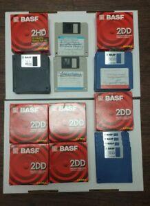 Lot of BASF 3.5 Inch Two Sided Double Density Floppy Disk - 2DD 2HD Verbatim HD