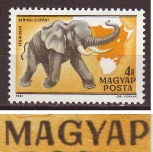 Hungary Scott C427F printing ERROR: MAGYAP instead of MAGYAR