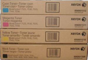 XEROX 006R01509-1512 WC 7525 7535 7830 7835 TONER SET CYMK