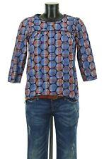 BODEN ENGLAND Luxus Bluse Top Shirt Gr 34 S Blau Rot Karo kariert Dots Spitzen