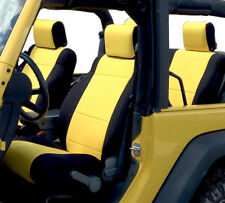 Jeep Wrangler Rubicon 2007 -2016 Neoprene Full Set Seat Cover 4 Dr YELLOW no4d