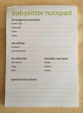 Parents - Babysitter Instruction Notepad - Magnetic - 45 Sheets