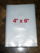 200 4x6 Inch H/D FLAT POLY PLASTIC PACKAGING BAGS .004 Mil Thick 200 Count Pkgs