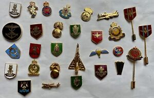 Mixed Listing of British Army Military Cap / Tie / Lapel Pin Badges - Code #166