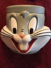 Bugs Bunny Mug Cup Plastic 3D Warner Brothers 1992 Looney Tunes