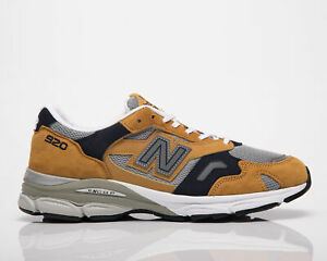New Balance 920 Made In UK Men's Mustard Yellow Casual Shoes Lifestyle Sneakers