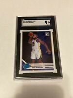 ERIC PASCHALL RC ROOKIE 2019-20 DONRUSS OPTIC #199 SGC 9 MINT
