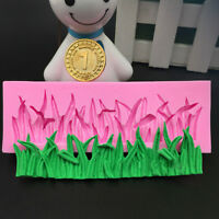 Pink Silicone Grass Fondant Mold Chocolate Clay Sugarcraft Lace Cake Decor Mould