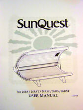 SunQuest Tanning Bed User Manual PRO 24RS 24RST 24RSF 26RS 26RST