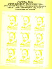STRIKE MAIL 1971 Exeter Emergency Delivery Services Full Sheet MNH 21/2P / 6d