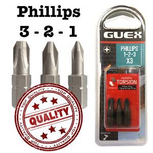 Insert Screwdriver Bits Screw Bit PH 1 2 3 Phillips Heat Resistant PH1 PH2 PH3