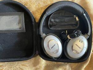 Bose QuietComfort QC2 Headphones - Silver With Case