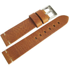 24mm ColaReb Siena Mens Tan Leather Made in Italy Watch Band Strap