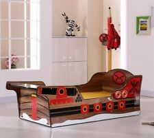 NEW IN Childrens 3ft Single Brown / Red / Yellow / Black Pirate Ship Bed Frame