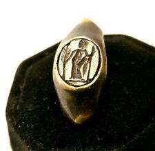 Ancient Bronze Seal   Ring-Vintage-Antique ROMAN-BRONZE-RARE