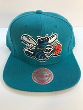 New Vintage Mitchell and Ness NBA Charlotte Hornets Teal Adjustable Snapback Hat