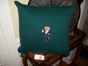 NIP Ralph Lauren Alsten Green Knit Decorative Bed Pillow 18x18 $215