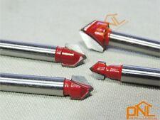 4PCS 1/4 Inch Router CNC Engraving V Groove Bit set 6mmx(6,8,10.12mm)x90Deg