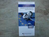 VfS Flyer für 10 Euro 2002 Einführung des Euro – Übergang zur Währungsunion