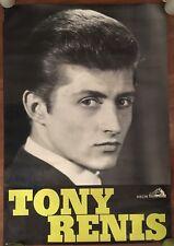 MANIFESTO,POSTER CONCERTO  TONY RENIS,CANTANTE 1962, DISCHI LA VOCE DEL PADRONE