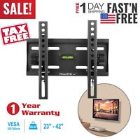 Flat TV Wall Mount Bracket 15°Tilt For 23 26 27 32 37 40 42 inch LED LCD
