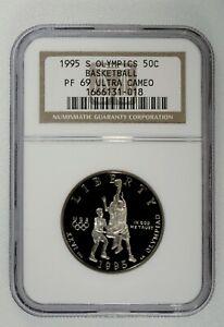 1995-S Olympic Basketball Commemorative Half  Dollar - NGC PF 69 Ultra Cameo 50c