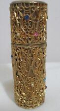 Vintage Lucien Lelong Tailspin Purse Perfume Spray Gold Filigree Rhinestones