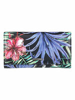 ROXY WOMENS PURSE.MY LONG EYES FLORAL MONEY CREDIT CARD COIN WALLET 7W 309 KVJ6
