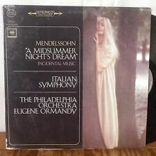 Eugene Ormandy Mendelssohn A Midsummer Night's Dream LP Columbia 2 eye stereo VG