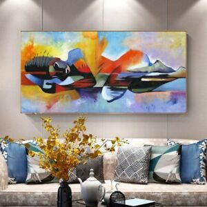 Lord Buddha Abstract Poster Large Canvas Paintings Wall Art Decor FREE SHIPPING