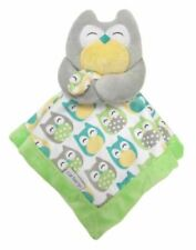 Carter'S Green Gray Owl Blankie Security Blanket Lovey New #67039