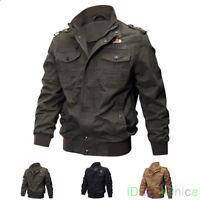 Mens MA-1 Flight Jacket Stylish Military Jacket Pilot Coats Cool US Army Jackets