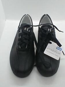 Keds sneakers Sz 8 Micro Stretch, Spirit Leather, Black Soles and Ties, NWT NIB