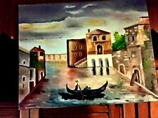 Original- One of a Kind- Oil on Canvas Painting-Venice- Signed-COA-Listed Art