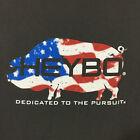 Heybo - Patriotic Pig print S/S T-shirt - M's Lg -Charcoal - EUC