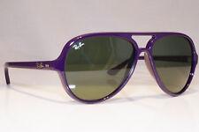 RAY-BAN Mens Womens Designer Sunglasses Purple Pilot CATS 5000 RB 4125 737 22501