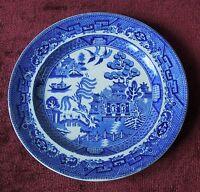 "BOURNE & LEIGH BLUE WILLOW LUNCHEON PLATE 8 5/8""  E.B. & J.E.L. ENGLAND"