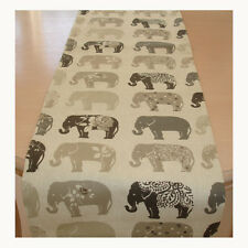 "Nouveau Table Runner 150 cm Gris éléphants 60"" anthracite beige marron motif floral spots 5 FT (environ 1.52 m)"