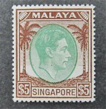 nystamps British Singapore Stamp # 20a Mint OG H $118