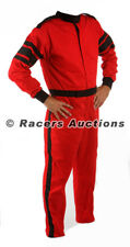 Medium Tall Red One Piece Single Layer Driving Suit Fire Race SFI Rated