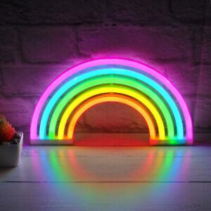 Colourful Rainbow LED Neon Light Stand Wall Bar Lamp Home Nursery Children Room
