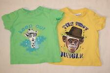 2 T-Shirts mit super interessanten Motiv Affe und Hund lustig Jungen Größe 62-68