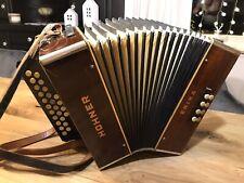 Hohner Akkordeon Harmonika Erika Diadonisch D.R.P. 30er Jahre toller zustand C/F