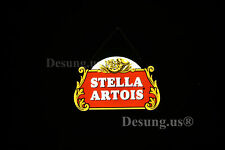 "New Stella Artois Beer Led 3D Neon Sign 17"" Light Lamp Vivid Bright Wall Decor"