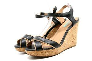 Miz Mooz Womens Platform Wedge Sandals Size 10 Kimba Ankle Strap Shoes