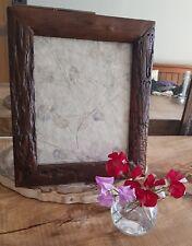 Handmade reclaimed teak wood 10x8 inch picture frame