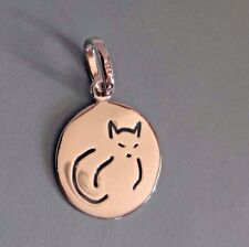 925 SILVER CAT PENDANT TAG CHARM COLLAR FINE JEWELRY FREYAS CAT RESCUE LOGO